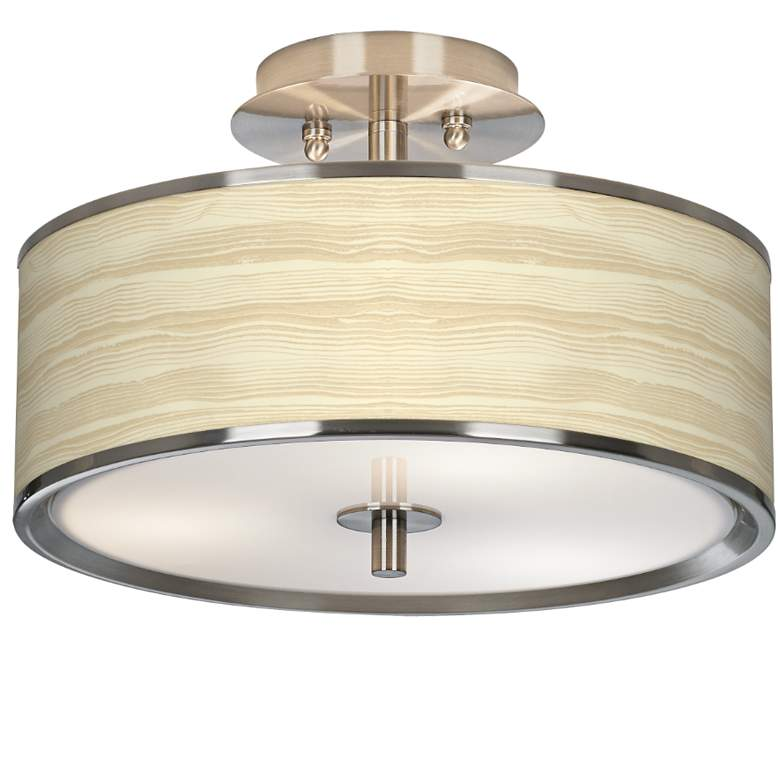 "Birch Blonde Giclee Glow 14"" Wide Ceiling Light"