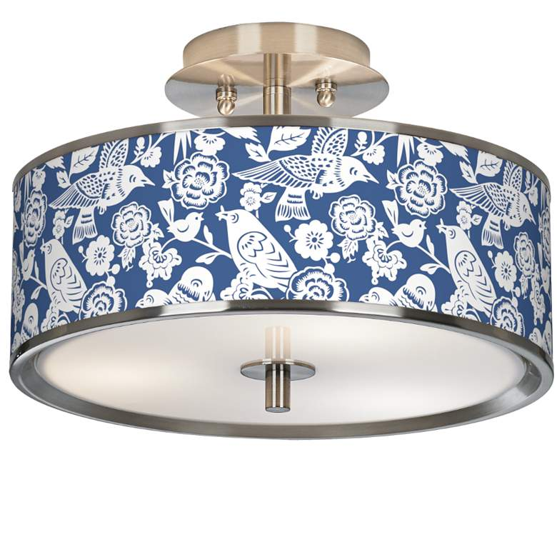 "Aviary Giclee Glow 14"" Wide Ceiling Light"