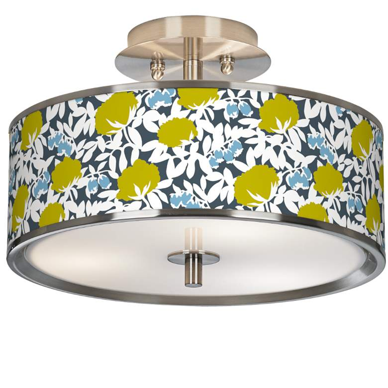 "Hedge Giclee Glow 14"" Wide Ceiling Light"