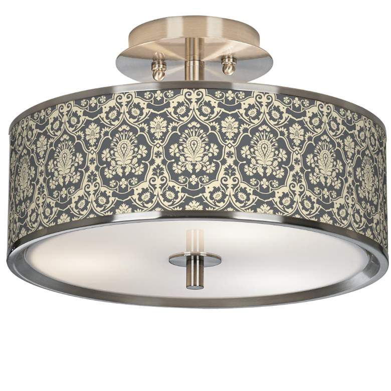 "Damask Giclee Glow 14"" Wide Ceiling Light"