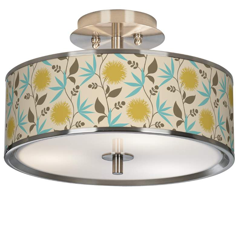 "Dahlia Giclee Glow 14"" Wide Ceiling Light"