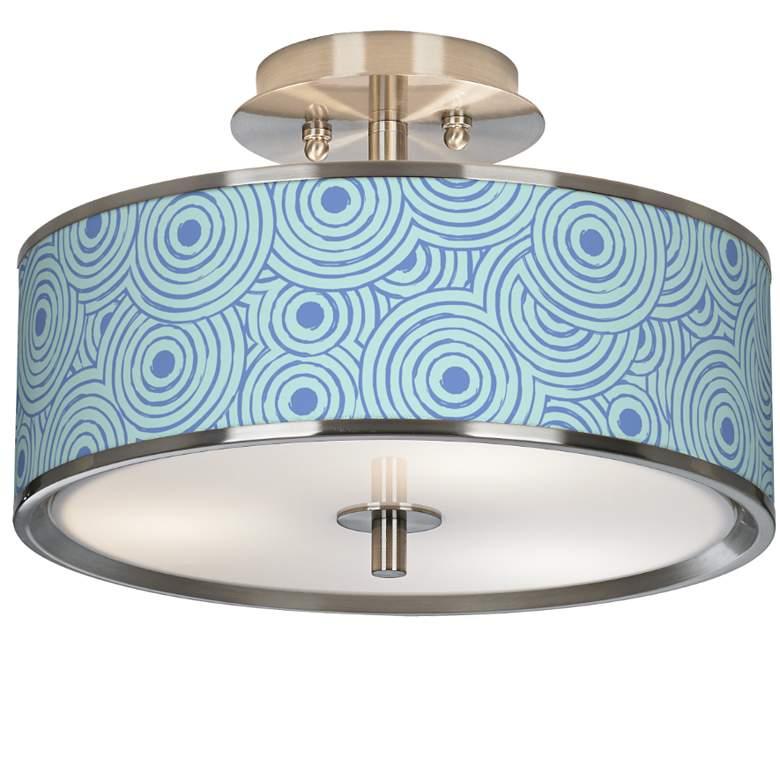 "Circle Daze Giclee Glow 14"" Wide Ceiling Light"