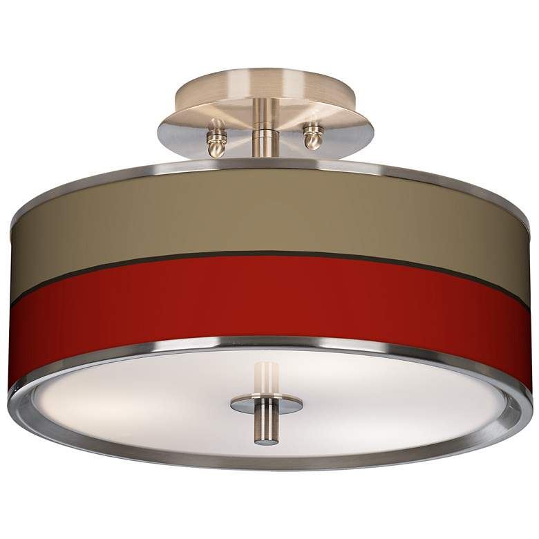 """Empire Red Giclee Glow 14"""" Wide Ceiling Light"""