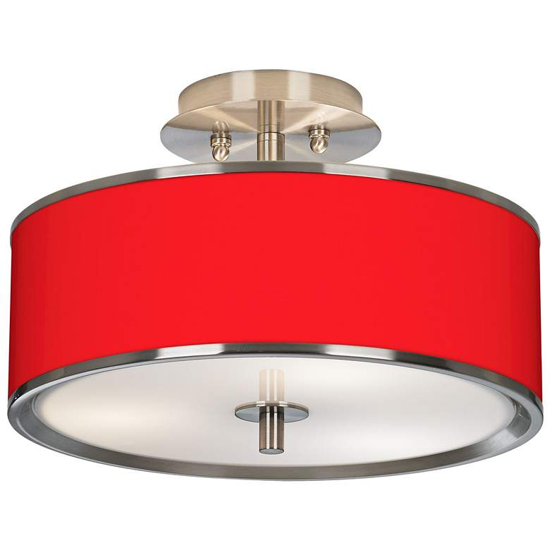 """All Red Giclee Glow 14"""" Wide Ceiling Light"""