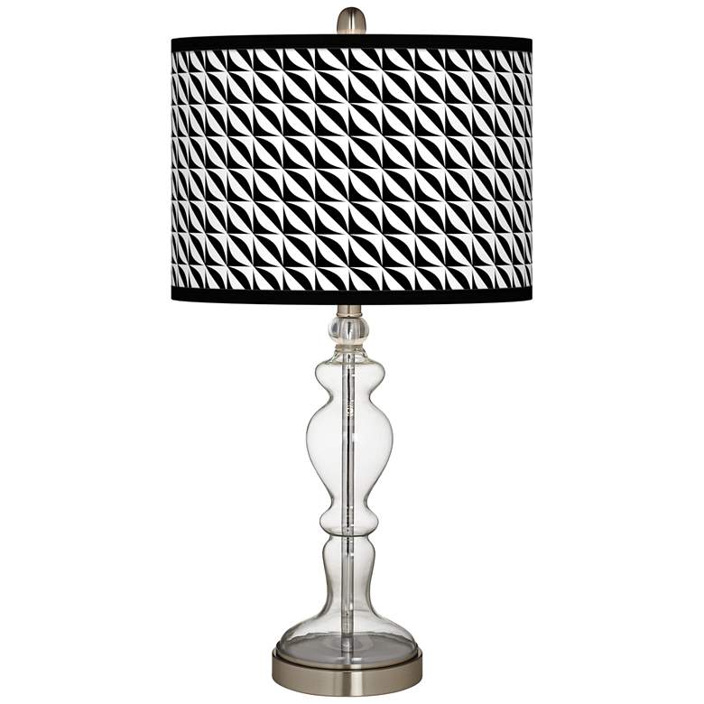 Waves Giclee Apothecary Clear Glass Table Lamp