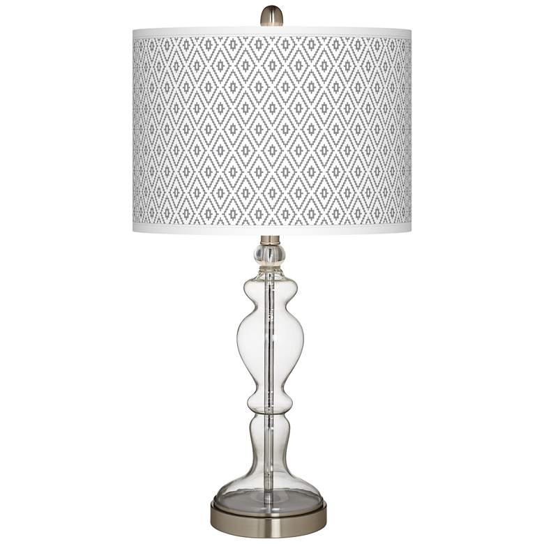 Diamonds Giclee Apothecary Clear Glass Table Lamp