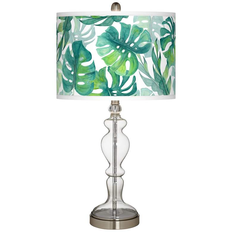 Tropica Giclee Apothecary Clear Glass Table Lamp