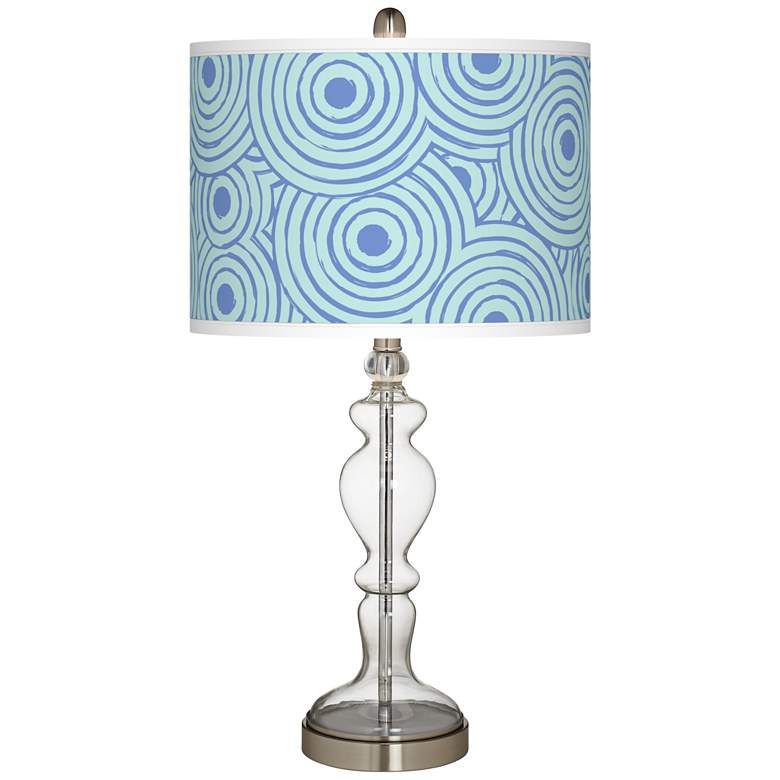 Circle Daze Giclee Apothecary Clear Glass Table Lamp