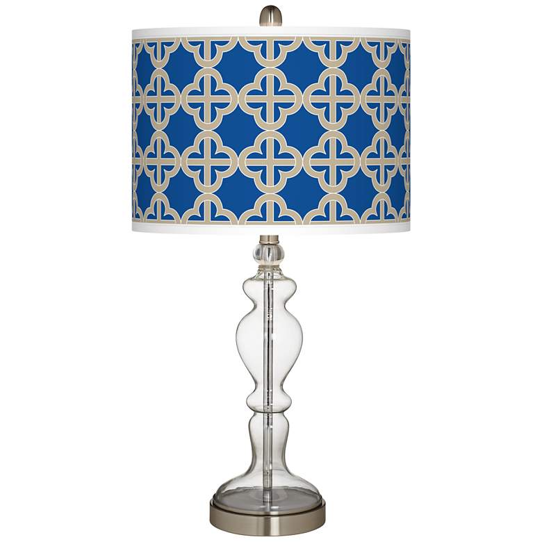 Four Corners Giclee Apothecary Clear Glass Table Lamp