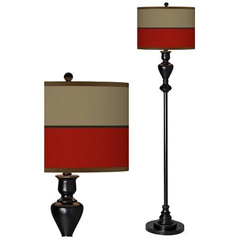 Empire Red Giclee Glow Black Bronze Floor Lamp
