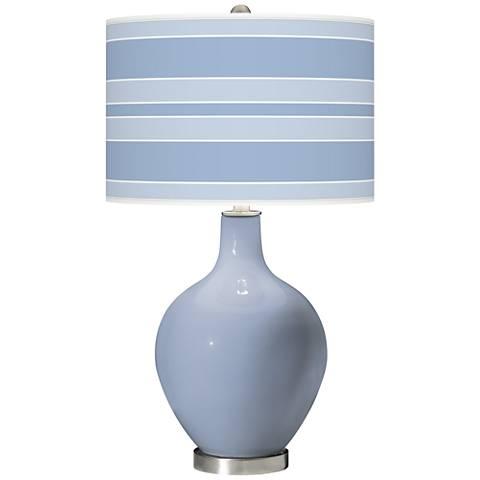 Blue Sky Bold Stripe Ovo Table Lamp