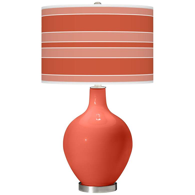 Koi Bold Stripe Ovo Table Lamp by Color Plus