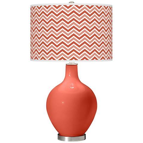 Koi Narrow Zig Zag Ovo Table Lamp