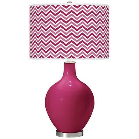 Vivacious Narrow Zig Zag Ovo Table Lamp