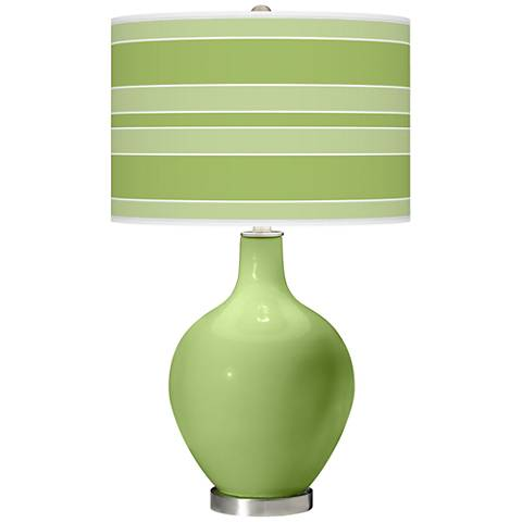 Lime Rickey Bold Stripe Ovo Table Lamp