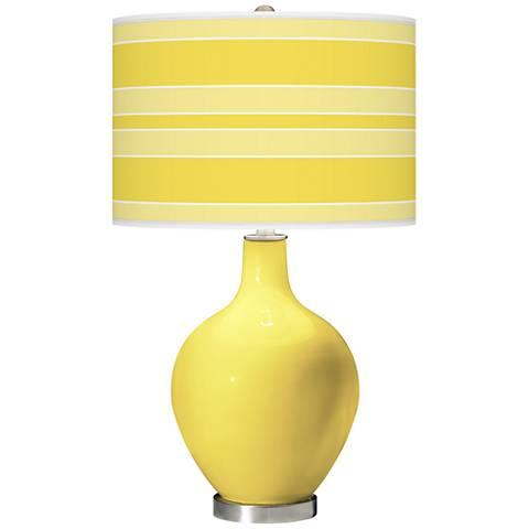 Lemon Twist Bold Stripe Ovo Table Lamp