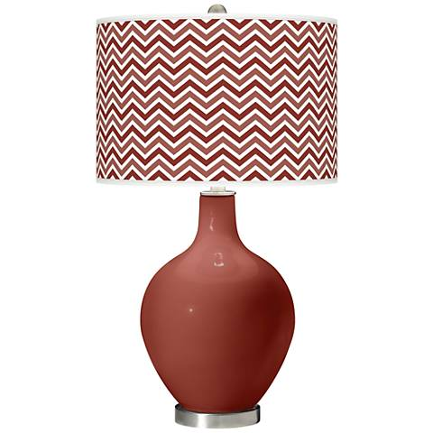 Madeira Narrow Zig Zag Ovo Table Lamp