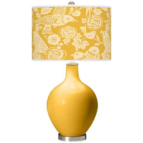 Goldenrod Aviary Ovo Table Lamp