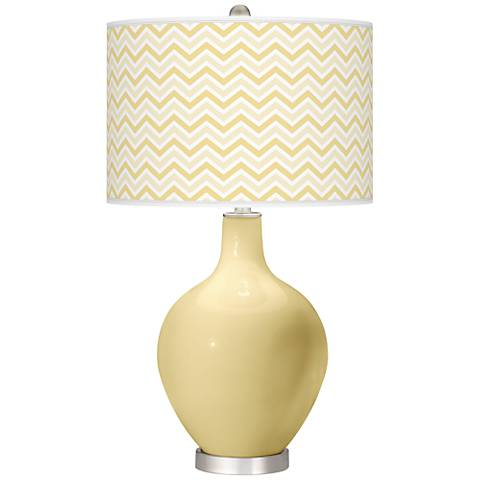 Butter Up Narrow Zig Zag Ovo Table Lamp