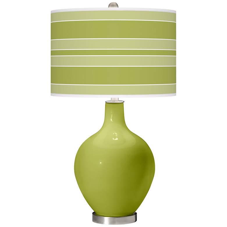 Parakeet Bold Stripe Ovo Table Lamp