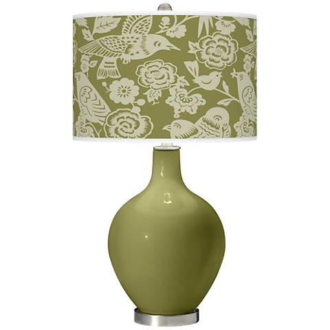 Rural Green Aviary Ovo Table Lamp