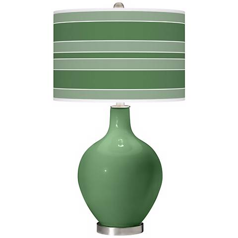 Garden Grove Bold Stripe Ovo Table Lamp
