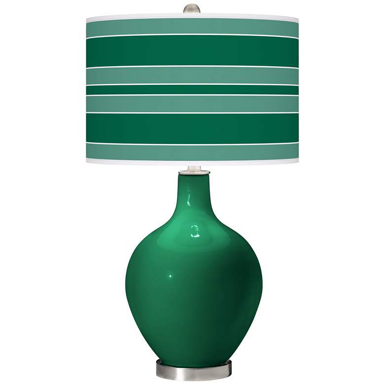 Greens Bold Stripe Ovo Table Lamp
