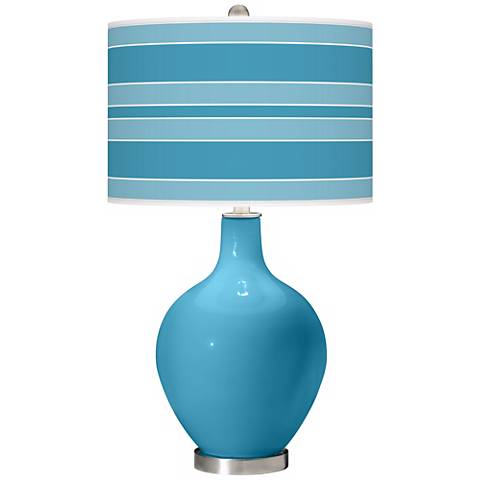Jamaica Bay Bold Stripe Ovo Table Lamp