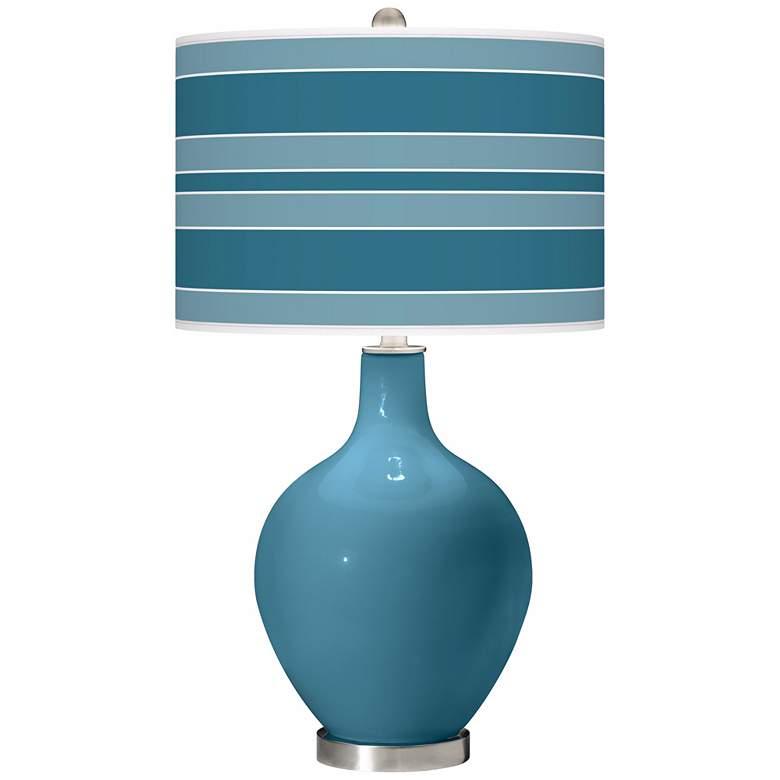 Great Falls Bold Stripe Ovo Table Lamp