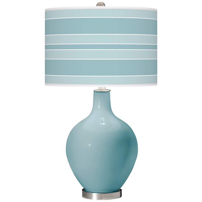Raindrop Bold Stripe Ovo Table Lamp