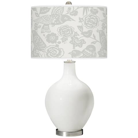 Winter White Aviary Ovo Table Lamp