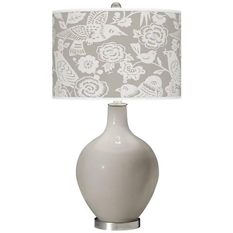 Requisite Gray Aviary Ovo Table Lamp