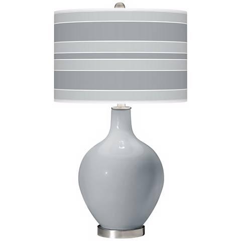 Uncertain Gray Bold Stripe Ovo Table Lamp