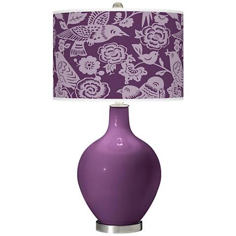 Kimono Violet Aviary Ovo Table Lamp