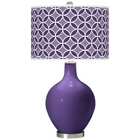 Izmir Purple Circle Rings Ovo Table Lamp