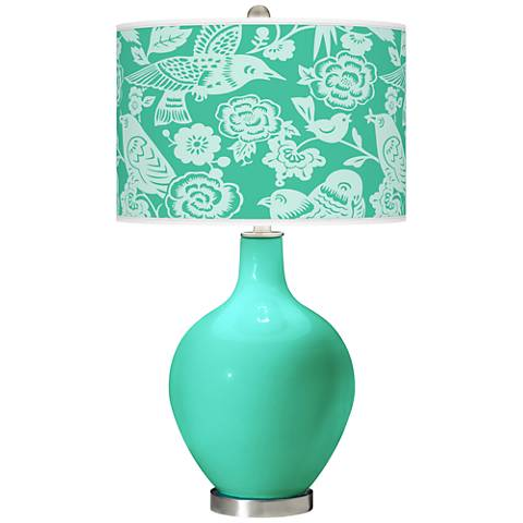 Turquoise Aviary Ovo Table Lamp