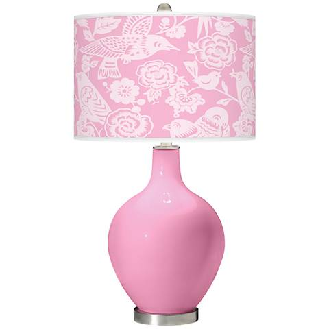 Pale Pink Aviary Ovo Table Lamp