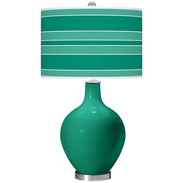 Leaf Bold Stripe Ovo Table Lamp