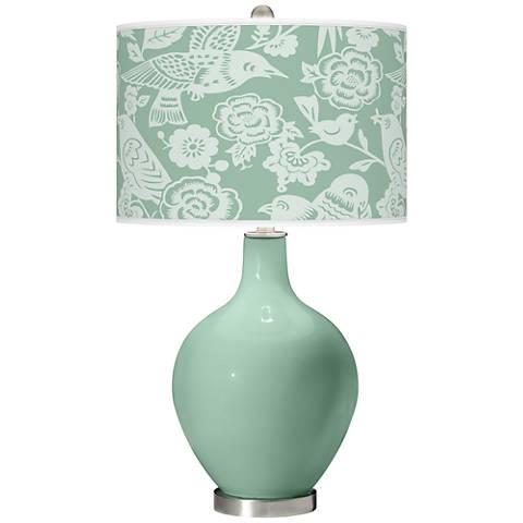Grayed Jade Aviary Ovo Table Lamp