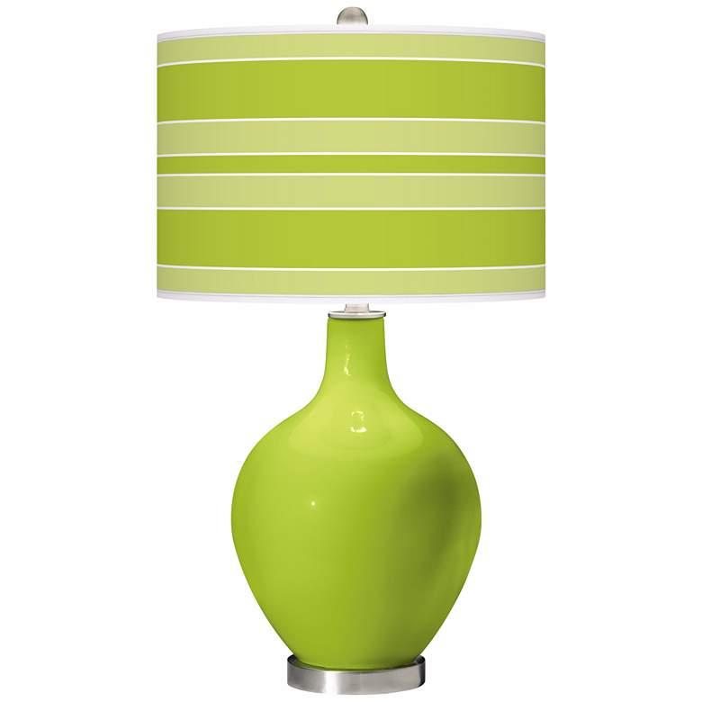 Tender Shoots Bold Stripe Ovo Table Lamp