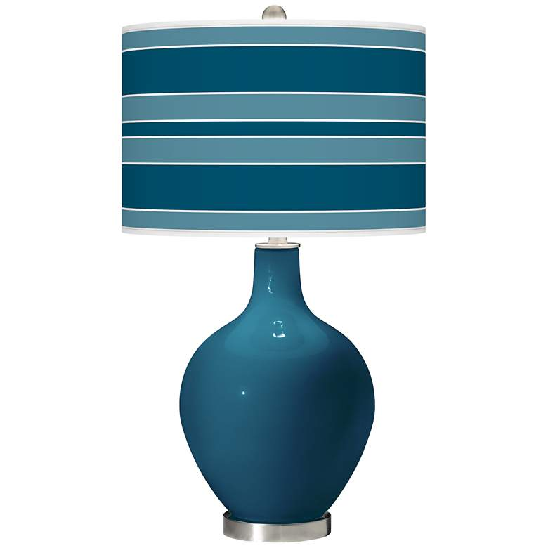 Oceanside Bold Stripe Ovo Table Lamp