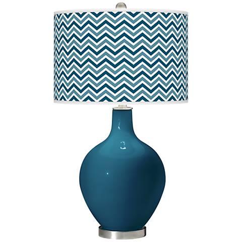 Oceanside Narrow Zig Zag Ovo Table Lamp