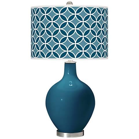 Oceanside Circle Rings Ovo Table Lamp
