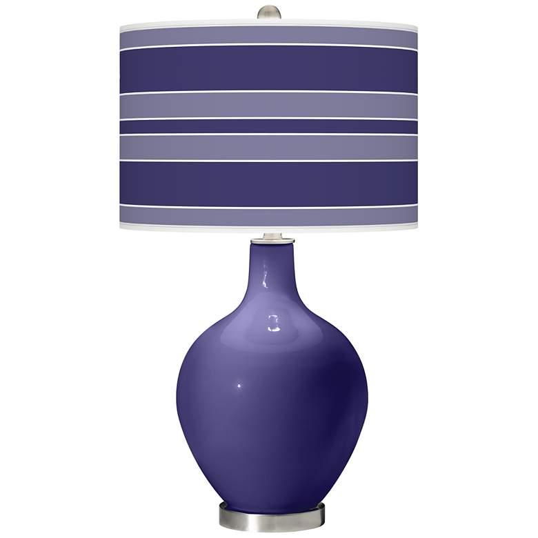 Valiant Violet Bold Stripe Ovo Table Lamp