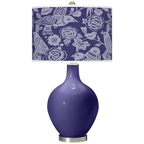 Valiant Violet Aviary Ovo Table Lamp