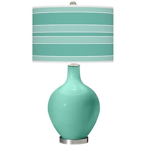 Larchmere Bold Stripe Ovo Table Lamp