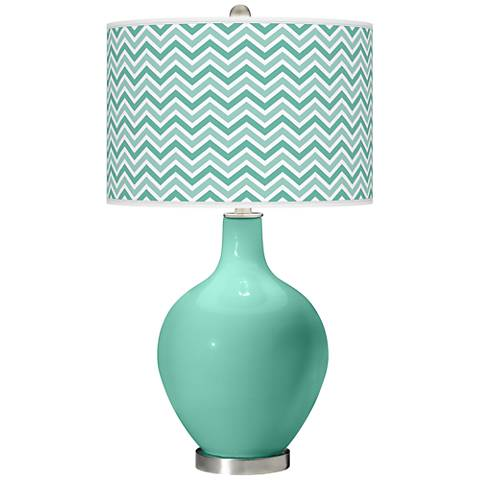 Larchmere Narrow Zig Zag Ovo Table Lamp