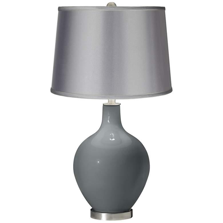 Software - Satin Light Gray Shade Ovo Table Lamp