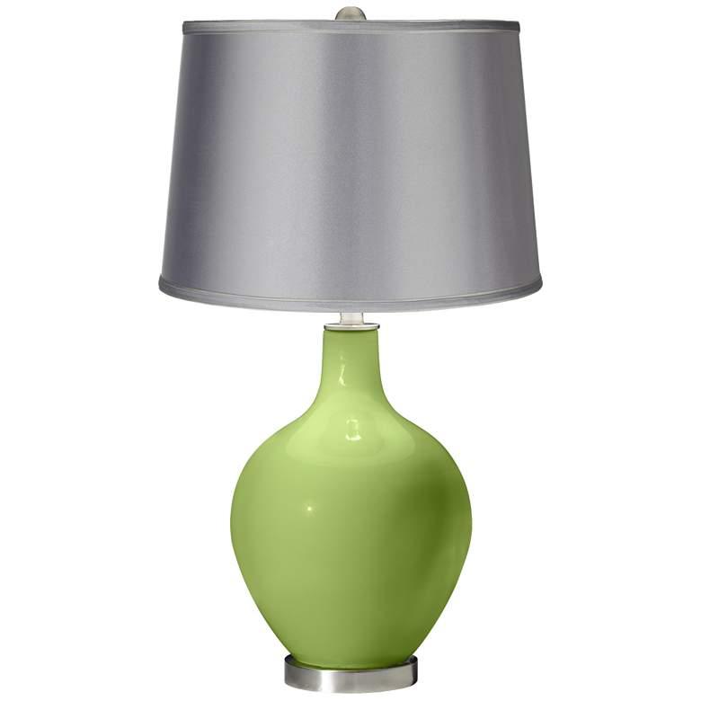 Lime Rickey - Satin Light Gray Shade Ovo Table Lamp