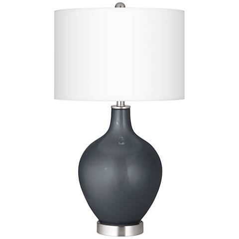 Gunmetal Metallic Ovo Table Lamp